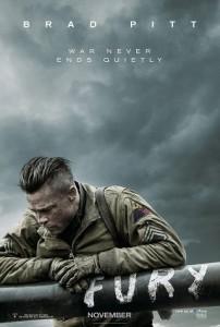 Poster filmu 'Fury', 2014.