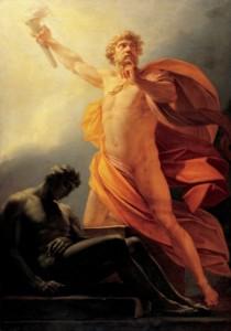 Prometeusz na obrazie Heinricha Fügera (1817).