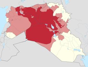 Tereny kontrolowane przez Państwo Islamskie, CC BY-SA 3.0