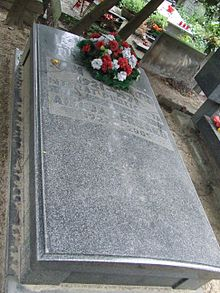 grób płk. Gerharda na Wojskowych Powązkach