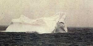 Góra lodowa, w którą prawdopodobnie uderzył Titanic