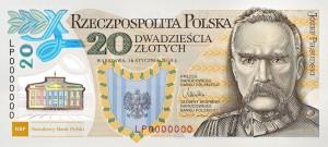 Pilsudski banknot polimer legiony