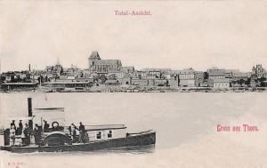 Pocztówka z panoramą Torunia (1897 rok)