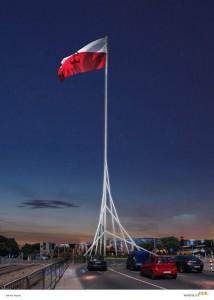 Gigantyczny Maszt Wolności powstaje w Warszawie
