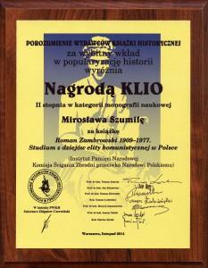 Nagrody Klio rozdane