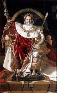 Napoleon na tronie cesarskim według Ingres'a