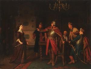 Anna Dorota Chrzanowska na zamku w Trembowli, obraz Leopolda Löfflera