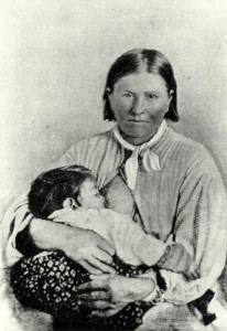 Cynthia Ann Parker ok 1860 lub 1861 r.