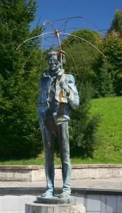 Pomnik Andy'ego Warhola w Medzilaborcach, Słowacja, fot. Przykuta