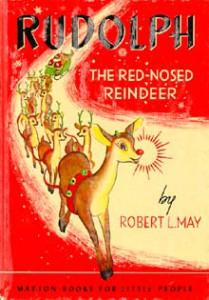 Okładka promocyjna oryginalnej książki o reniferze Rudolfie z 1939 r.