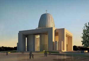 Wizualizacja Świątyni Opatrzności Bożej w Warszawie