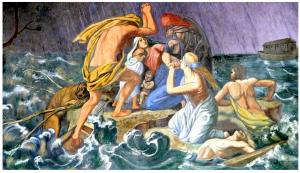 Biblijny potop, Fresk z kaplicy na Górze św. Anny, fot. Henryk Przondziono, GN