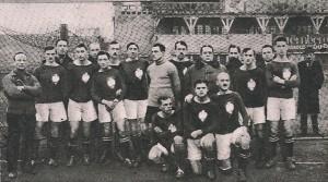 Piłkarska reprezentacja Polski przed pierwszym oficjalnym meczem - z Węgrami (18 grudnia 1921 w Budapeszcie)