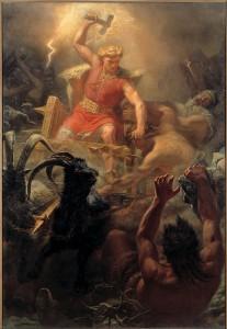 Thor's Battle Against the Jötnar (1872) - Mårten Eskil Winge