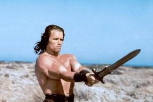 Arnold Schwarzenegger jako Conan Barbarzyńca (1982 r.)
