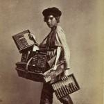 Sprzedawca liczydeł w Sankt Petersburgu, fot. William Carrick, ok. 1860 r.