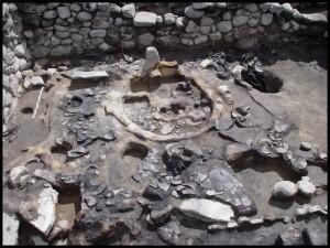 Fotografia przedstawiająca odkrytą świątynię; Fot. Professor Adam Smith
