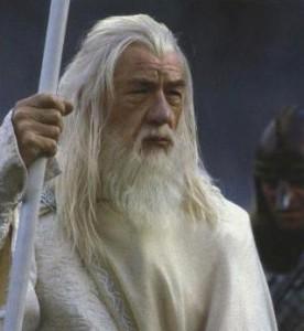 """Ian McKellen, jako Gandalf w filmie """"Dwie wieże"""", 2002"""