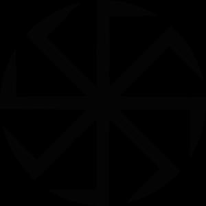 Kołowrót jest jedną ze słowiańskich odmian swastyki