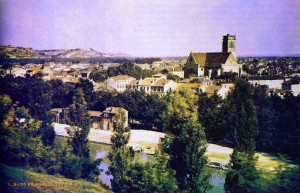 Louis Arthur Ducos du Hauron, Widok na miasto Agen, 1877 r