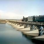 Most kolejowy na rzece Szuji, 1916 r