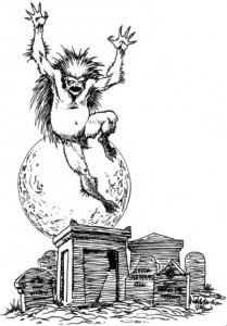 """Wizerunek strzygi z gry fabularnej """"Wiedźmin: Gra Wyobraźni"""", wyd. MAG"""