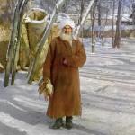 Tadżyk trzymający upolowanego przez siebie ptaka, w pobliży Samarkandy, fot. Siergiej Prokudin-Gorski, ok 1910 r.
