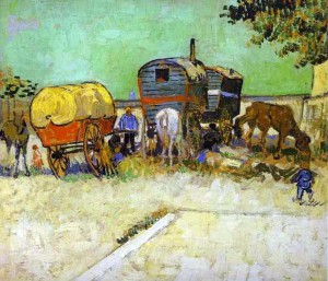 Obraz Obóz cygański koło Arles autorstwa Vincent van Gogh