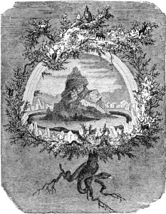 Wyobrażenie axis mundi – - germańskie drzewo Igdrasil