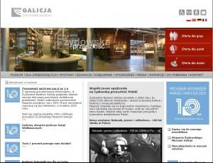 Strona www Żydowskiego Muzeum Galicja