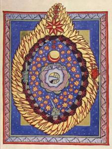 il. 2 hildegarda z bingen, ilustracja do 3 wizji, u017Cru00F3du0142o wikimedia