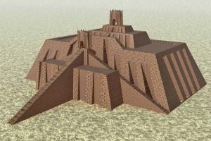 Komputerowa rekonstrukcja Zigguratu w Ur