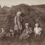 Dzieci chłopskie na łące nad rzeką, fot. William Carrick, ok. 1860 r.