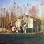 Rodzina przesiedleńców, pod Nadieżdińskiem na Uralu, fot. Siergiej Prokudin-Gorski, ok. 1905-1915 r.