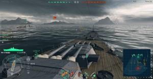 Potężne baterie artylerii japońskiego pancernika Yamato X poziomu.