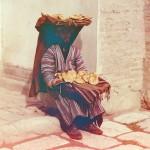 Sprzedawca na targu w Samarkandzie, fot. Siergiej Prokudin-Gorski, ok. 1910 r.