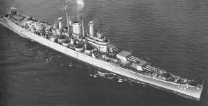 USS Des Moines na archiwlanym zdjęciu...