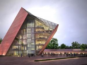 """Wizualizacja Muzeum II Wojny Światowej, Studio Architektoniczne """"Kwadrat"""""""