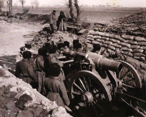 Artyleria podczas bitwy pod Sandepu, styczeń 1905 roku