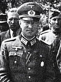 Borys Holmston-Smysłowski w mundurze majora Wehrmachtu