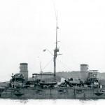 Japoński krążownik Kasuga po bitwie pod Cuszimą, 1905 r