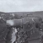 Japońskie 28cm działo Howitzera podczas oblężenia Port Artur, fot Collier, 1904 r
