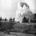 Japońskie działo podczas oblężenia Port Artur, fot Collier, 1904