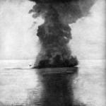 Koriejec ekspolodujący podczas bitwy w zatoce Czemulpo, 9 lutego 1904 r