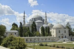 Meczet Sulejmana, wybudowana za panowania Sulejmana Wspaniałego (widok dzisiejszy) / fot. İhsan Deniz Kılıçoğlu, CC-BY-SA 3.0