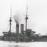 Mikasa, japoński okręt flagowy admirała Togo, 1905 r