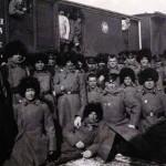 Oddział transportowany koleją transsyberyjską z Irkucka do Mandżurii, 1904