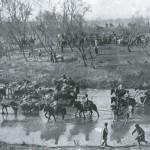 Odwrót Rosjan po bitwie pod Mukden, fot Collier, 1905 r