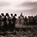 Orkiestra 55 Podolskiego Pułku Piechoty przed atakiem na Sandepu, 1905 r