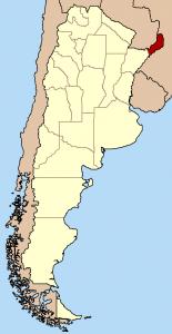 Prowincja Misiones na mapie, CC BY-SA 3.0